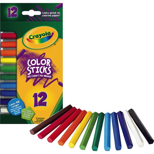 Crayola Sketch & Shade Woodless Color Sticks