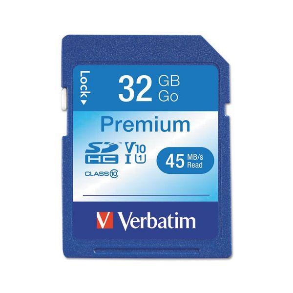 Verbatim 32GB Premium SDHC Memory Card, USH-1 V1- U1 Class 10