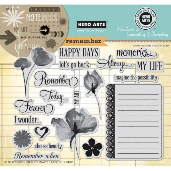 Hero Arts Adventures In Cardmaking & Journaling Cling Stamps
