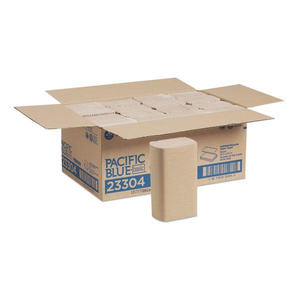 16 Packs//Carton 9 1//5 x 9 2//5 Georgia Pacific Professional Multifold Paper Towel 250//Pack Brown