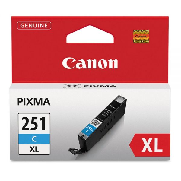 Canon CLI-251XLC Cyan High-Yield Ink Cartridge (6449B001)