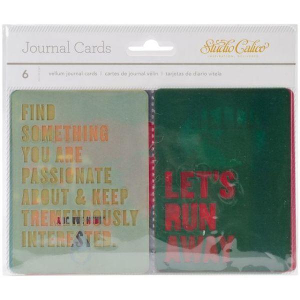 Wanderlust Vellum Journaling Cards 6/Pkg