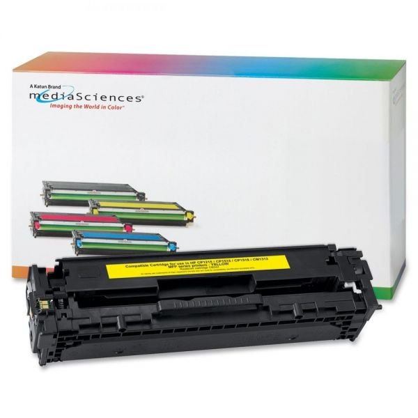 Media Sciences Remanufactured HP 125A Yellow Toner Cartridge