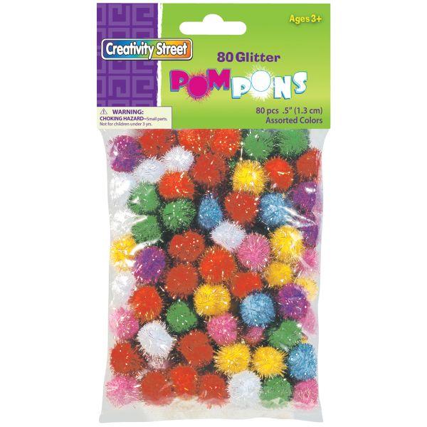 Glitter Pom-Pons Variety Pack 80/Pkg