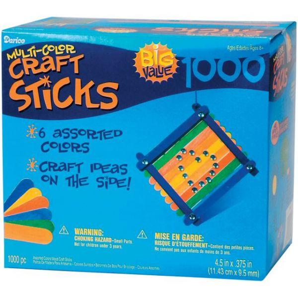 Darice Multi-Color Craft Sticks