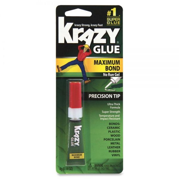 Krazy Glue Maximum Bond Super Glue With Precision Tip