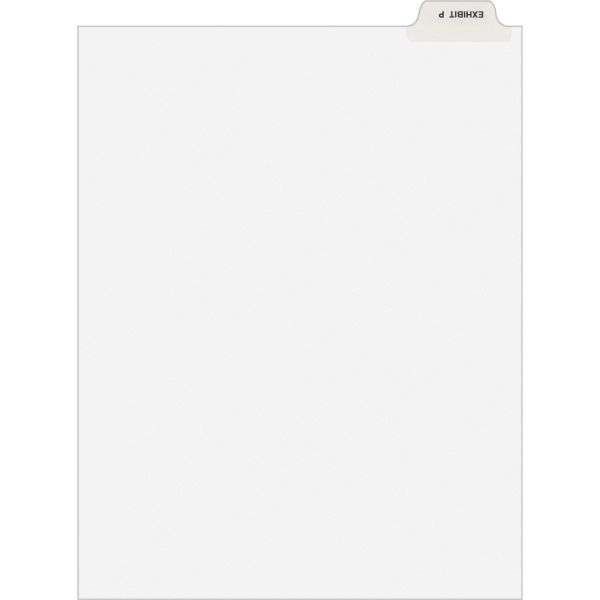 Avery-Style Preprinted Legal Bottom Tab Dividers, Exhibit P, Letter, 25/Pack