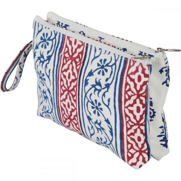 Radiance Full Fabric Double Zipper Pouch