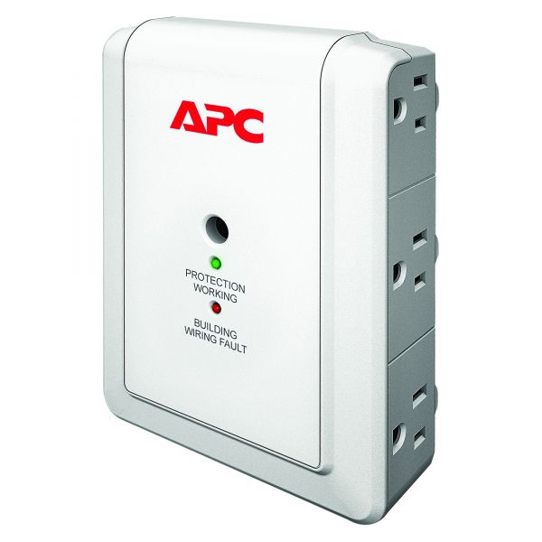 APC by Schneider Electric SurgeArrest Essential P6WT 6-Outlets Surge Suppressor