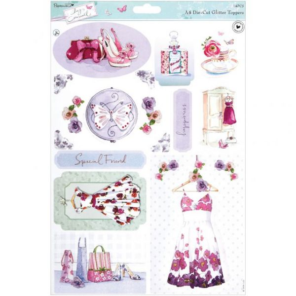 Papermania Lucy Cromwell Die-Cut Toppers A4 Sheet