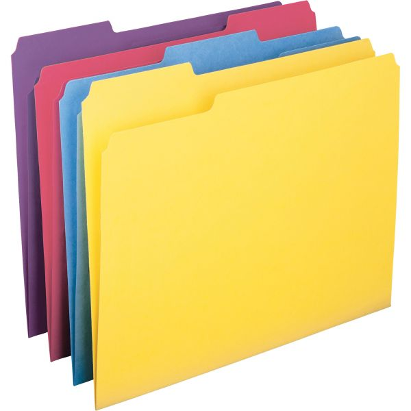 Smead Colored File Folders with Antimicrobial Product Protection