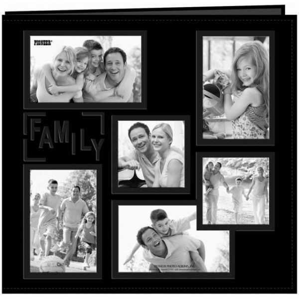 "Sewn Embossed Collage Frame Post Bound Album 12""X12"""