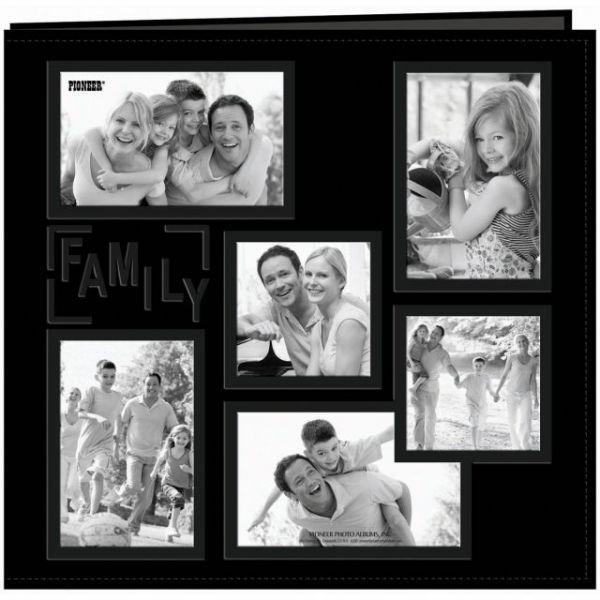 "Sewn Embossed Collage Frame Post Bound Album 12""X12"""