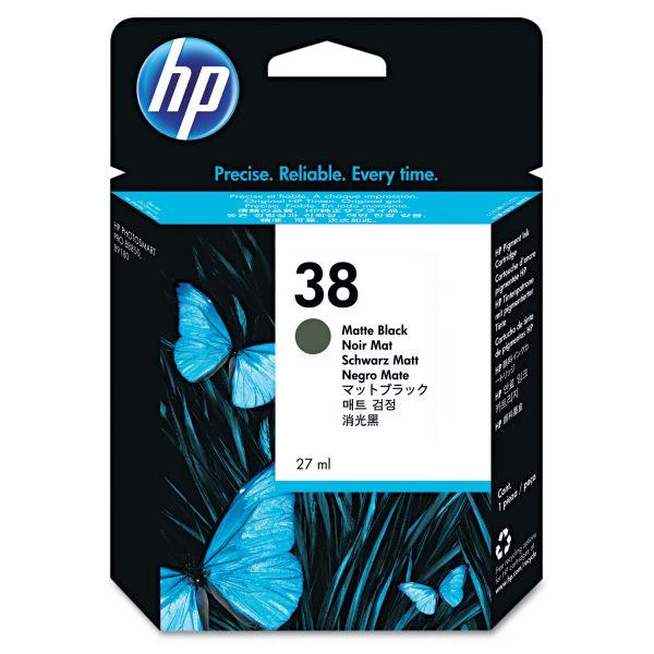 HP 38 Matte Black Ink Cartridge (C9412A)