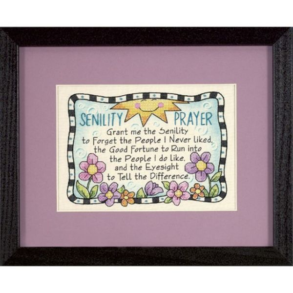 Dimensions Senility Prayer Mini Stamped Cross Stitch Kit