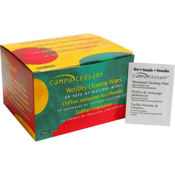 Compucessory Wet and Dry Screen Cleaning Wipes