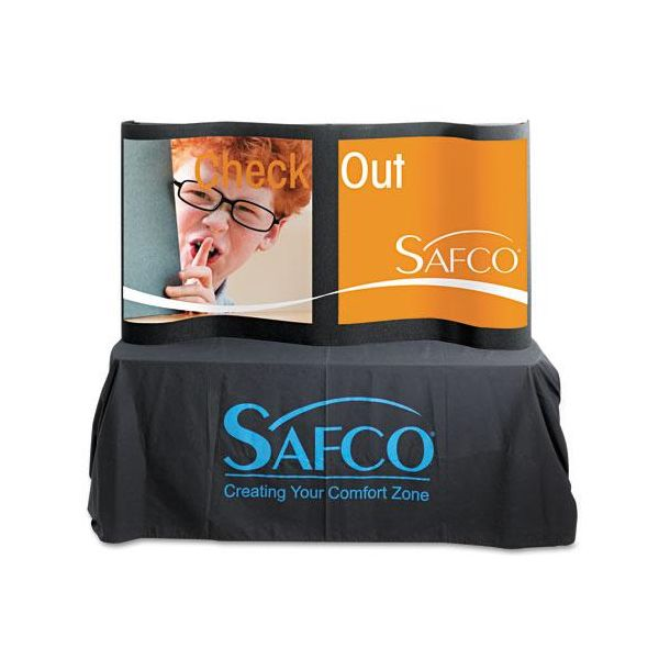 Safco Portable Tabletop Display, Fabric Covered Plastic, 67 x 37, Black