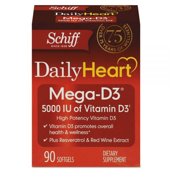 Schiff Mega Vitamin D3 Softgels
