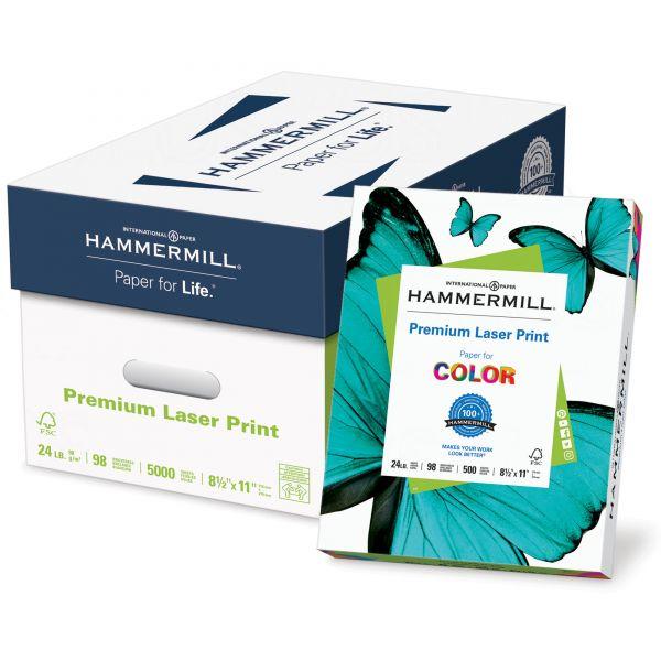 Hammermill Laser Print Office Paper, 98 Brightness, 24 lb, 8 1/2 x 11, White, 500 Sheets/Ream