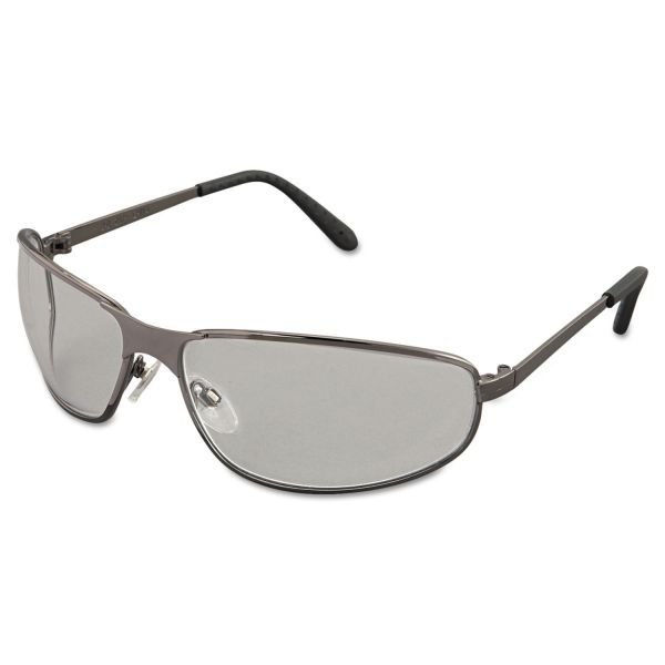 Honeywell Uvex Tomcat Safety Glasses, Gun Metal Frame, Clear Lens