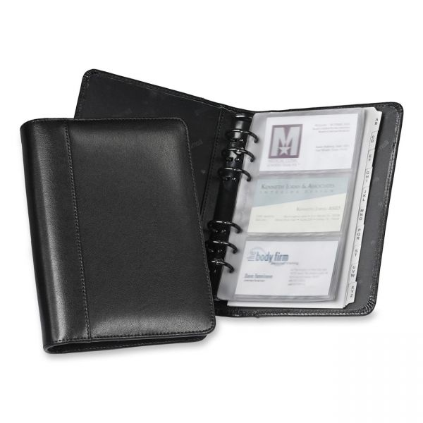 Samsill Regal Leather Business Card Binders