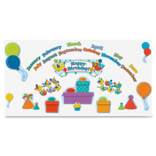 Carson-Dellosa Boho Birds Birthday Bulletin Board Set
