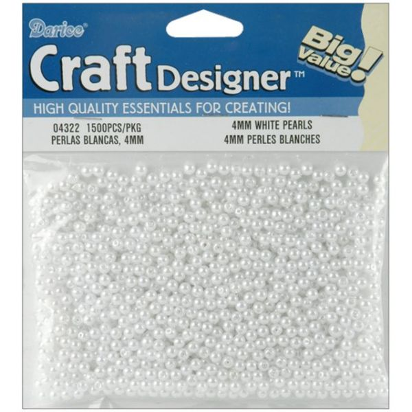 Darice Craft Designer Pearl Beads