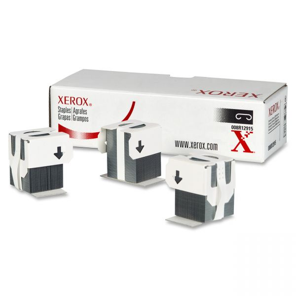 Xerox Staples for Xerox WORKCENTRE PRO123/M24/Others, 3 Cartridges, 15,000 Staples