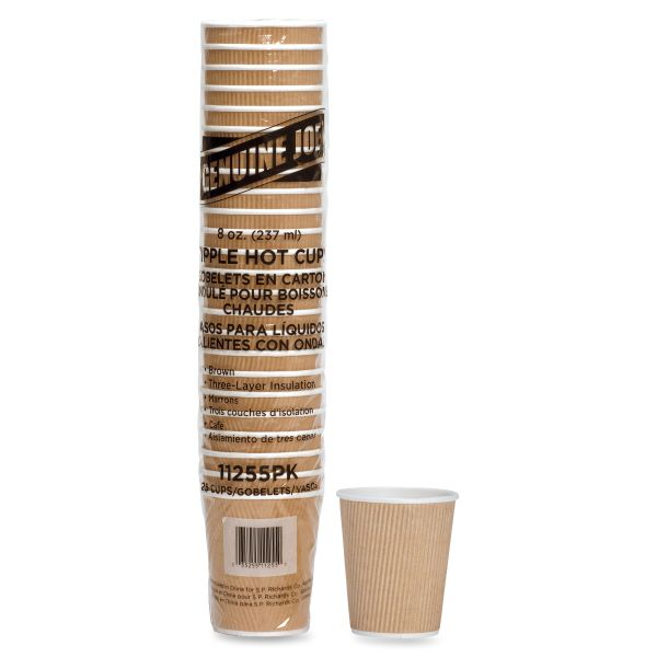 Genuine Joe Ripple 8 oz Coffee Cups