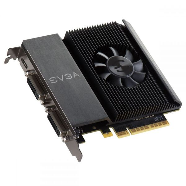 EVGA GeForce GT 710 Graphic Card - 954 MHz Core - 2 GB DDR3 SDRAM - PCI Express 2.0 x16 - Single Slot Space Required