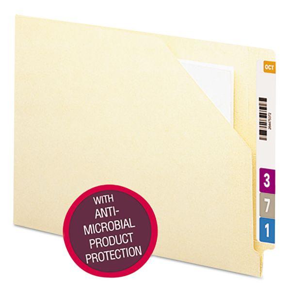 Smead End Tab File Jacket , Antimicrobial, Letter, 11pt, Manila, 100/Box