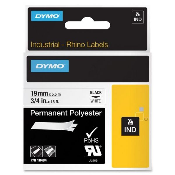 Dymo IND Rhino Industrial Permanent Polyester Label Tape