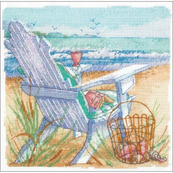 Gold Petite Tide View Counted Cross Stitch Kit