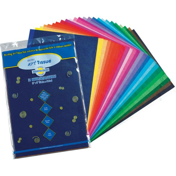 Pacon Spectra Art Tissue, 10 lbs., 12 x 18, 10 Assorted Colors, 50 Sheets/Pack