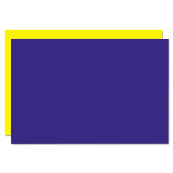 Eco Brites Too Cool Foam Board, 20x30, Blue/Yellow, 5/Carton