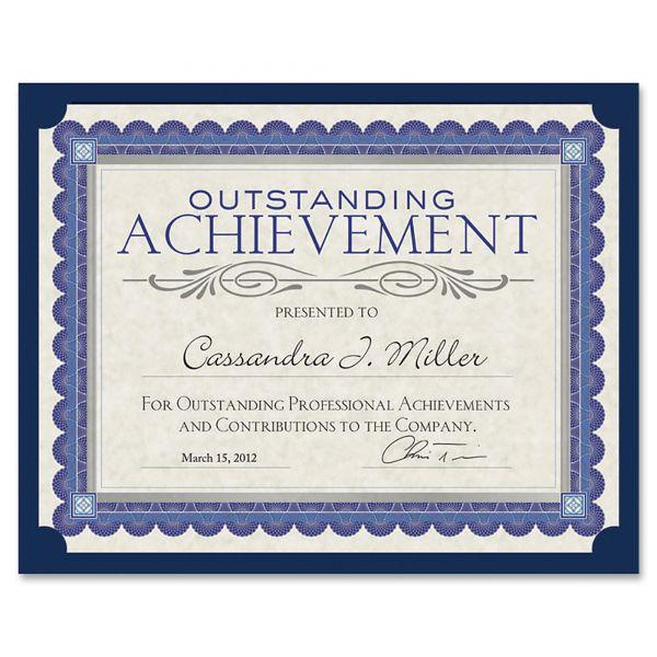 Southworth Certificate Holder, Black, 105lb Linen Stock, 12 x 9 1/2, 10/Pack