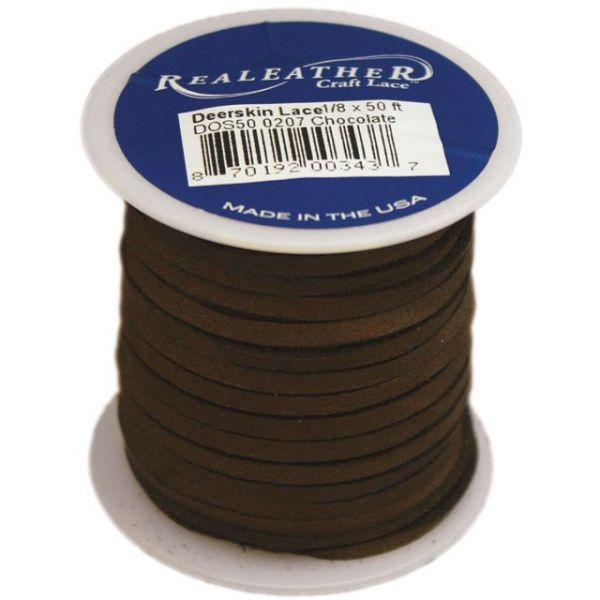 """Deerskin Lace .125""""X50' Spool"""