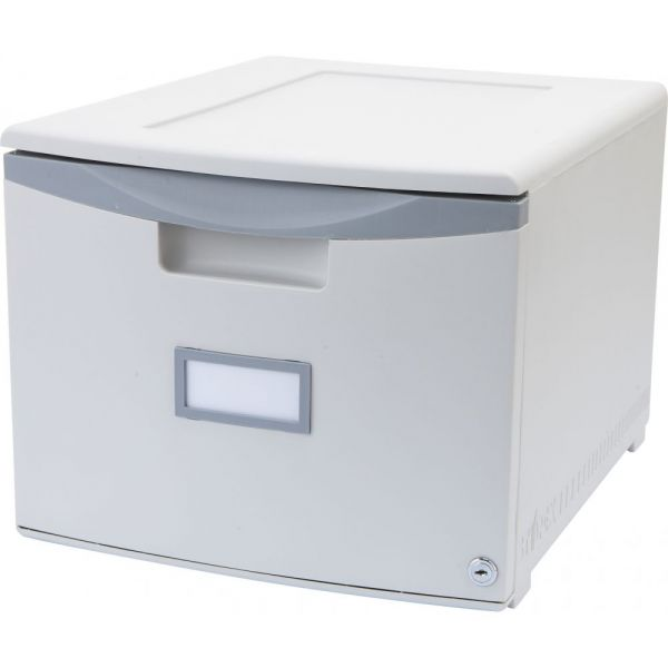 Storex Single Drawer Mini File Cabinet with Lock
