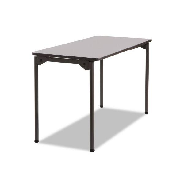 Iceberg Maxx Legroom Rectangular Folding Table, 48w x 24d x 29-1/2h, Gray/Charcoal