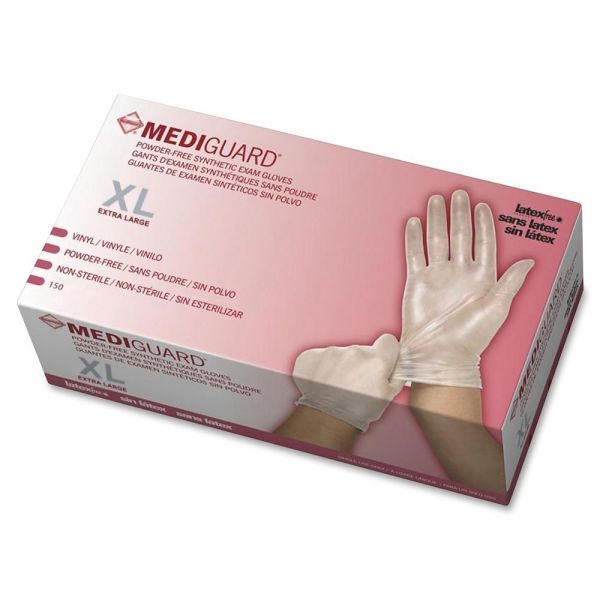 Medline MediGuard Vinyl Non-sterile Exam Gloves