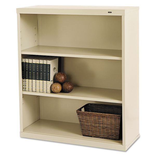 Tennsco Deep 3-Shelf Welded Steel Bookcase