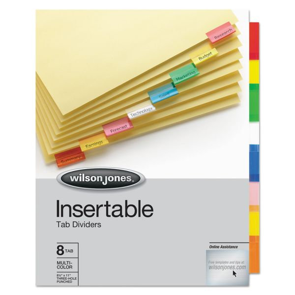 Wilson Jones Insertable Tab Index Dividers