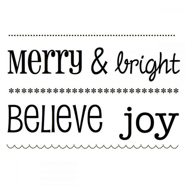 "SRM BIG Sentiment Clear Stamps 4""X6"""