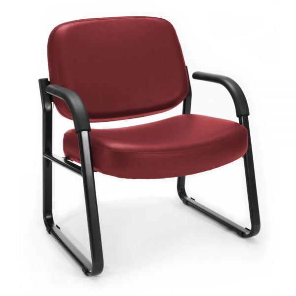 OFM Big & Tall Anti-Microbial/Anti-Bacterial Vinyl Guest/Reception Chair with Arms