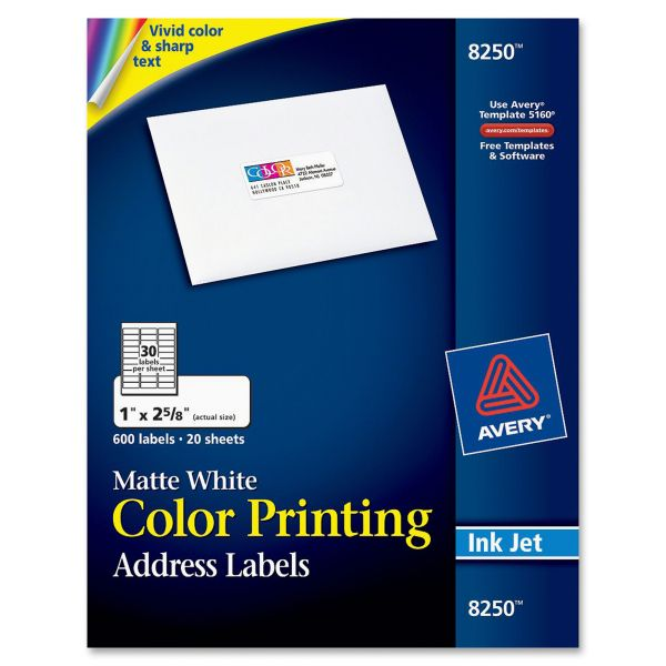 Avery Color Printing Address Labels