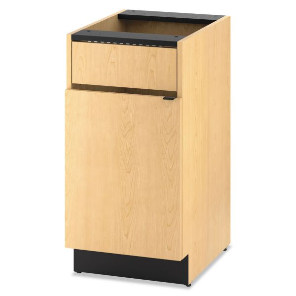 "HON Modular Single Waste Management Cabinet | 1 Access Panel / 1 Door | 18""W"