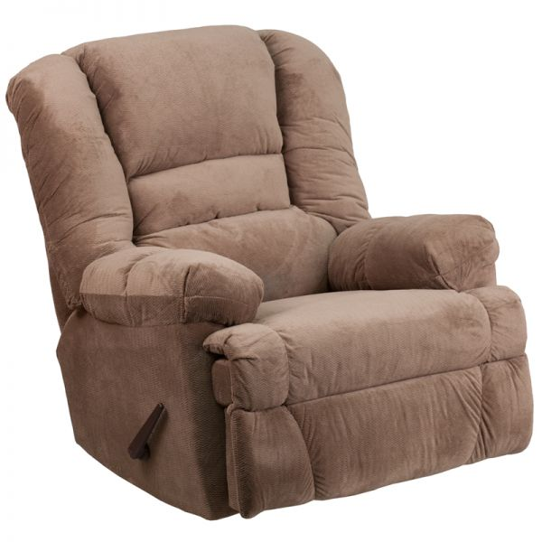 Flash Furniture Contemporary Dynasty Camel Microfiber Rocker Recliner