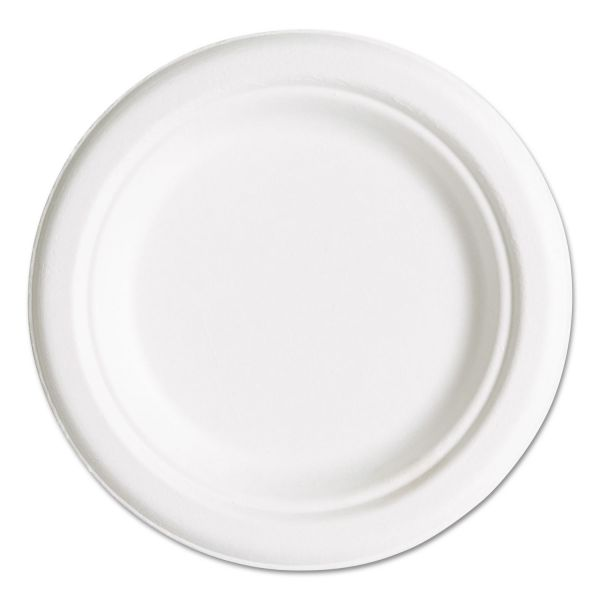 "Eco-Products Compostable 6"" Bagasse Plates"