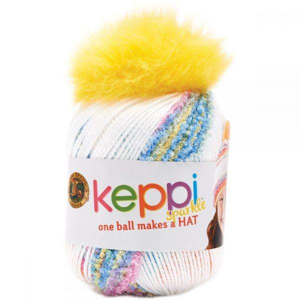 Lion Brand Keppi Yarn - Rainbow Cupcake-Sparkle