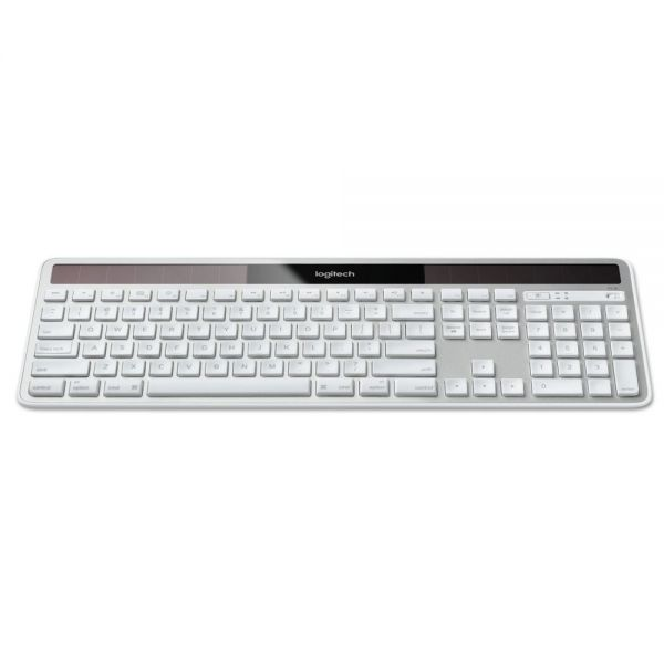 Logitech Wireless Solar Keyboard for Mac, Full Size, Silver